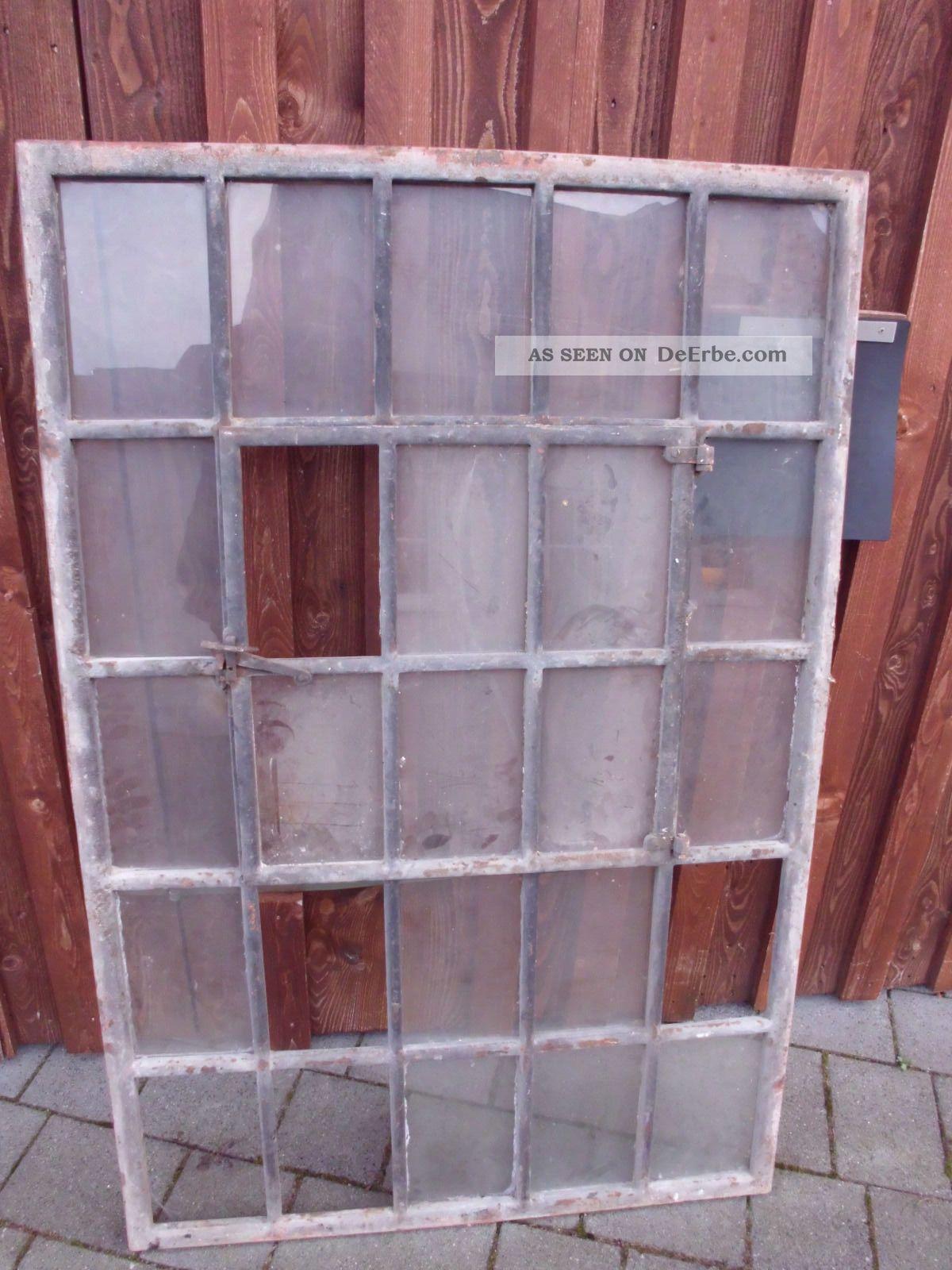 antikes gussfenster schwer 151cm x 100 cm mit t r und. Black Bedroom Furniture Sets. Home Design Ideas