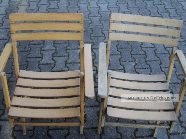 2 st ck klappstuhl gartenstuhl holzstuhl terrasse mit armlehne rarit t. Black Bedroom Furniture Sets. Home Design Ideas