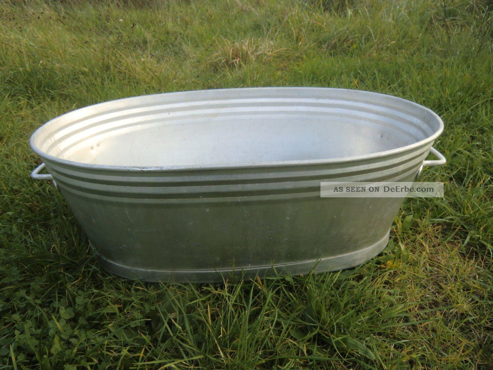 Alte aluminium wanne zum bepflanzen gartendeko top for Gartendeko zum bepflanzen