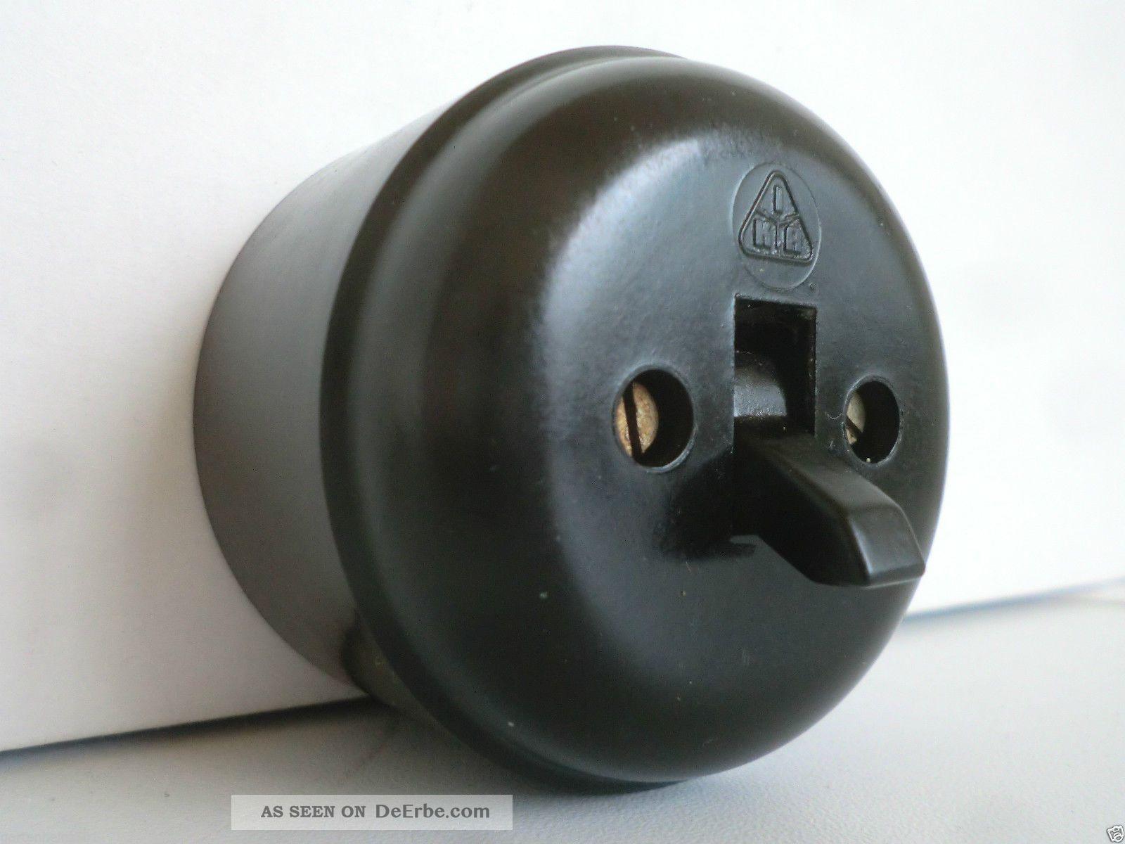 bakelit schalter lichtschalter kippschalter aufputz art. Black Bedroom Furniture Sets. Home Design Ideas