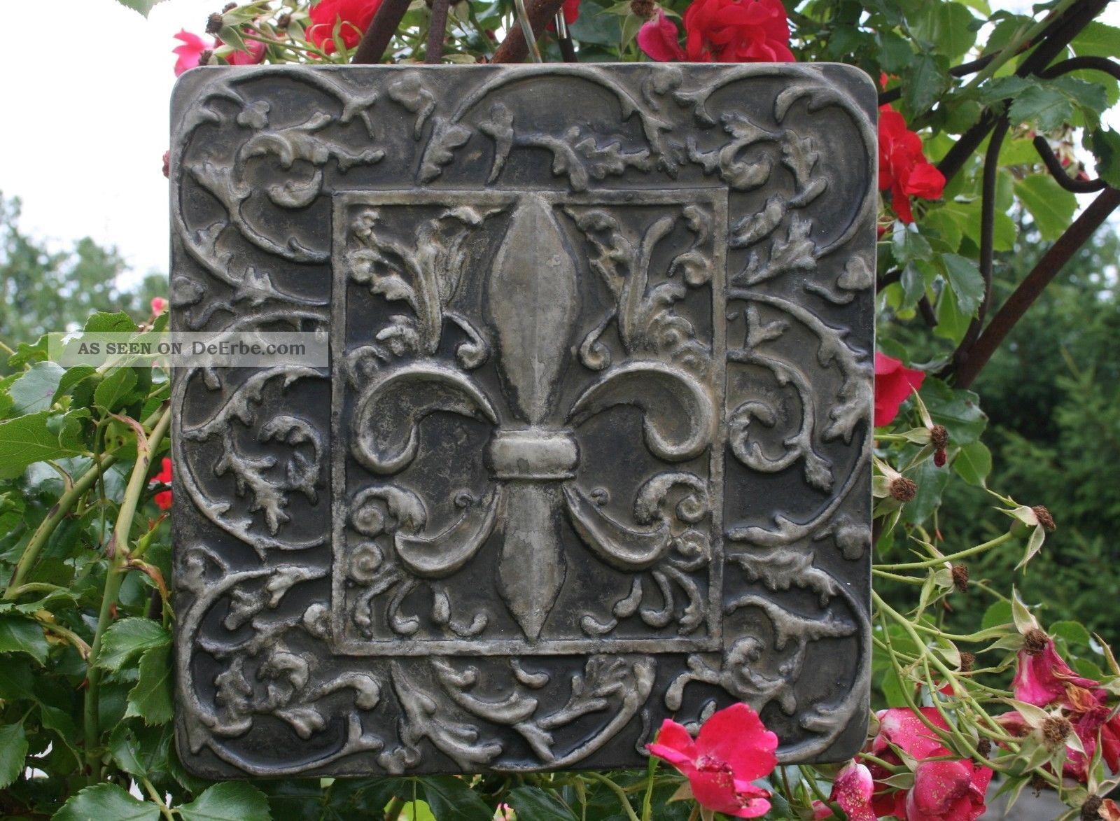 franz sische lilie fleur de lys relief fassaden schmuck steinguss patiniert. Black Bedroom Furniture Sets. Home Design Ideas