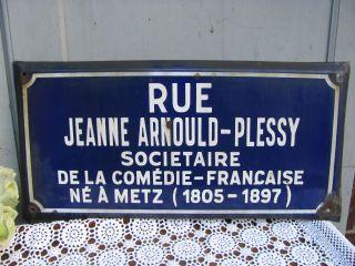 Frankreich Antikes Französisches Strassenschild Metz Emailleschild Shabby Email Bild