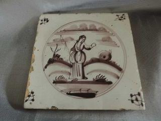 Antike Holländische Fliese Bild