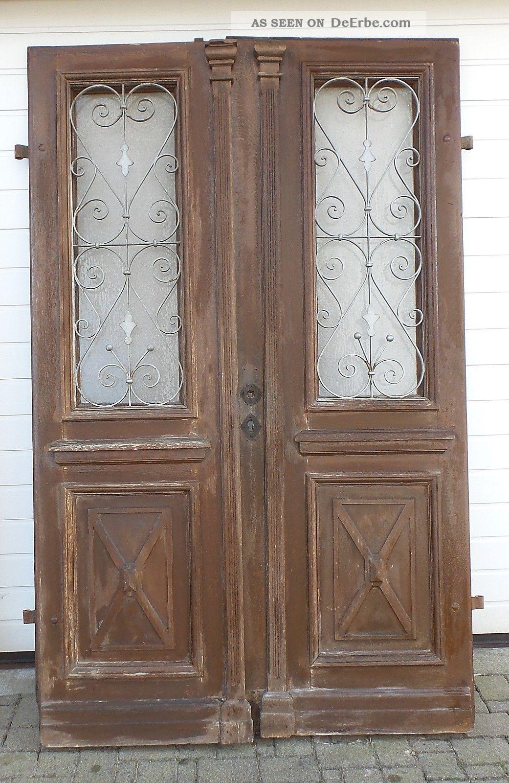 antike haust r ca 1890 eiche doppelfl gel jugenstil gr nderzeit. Black Bedroom Furniture Sets. Home Design Ideas