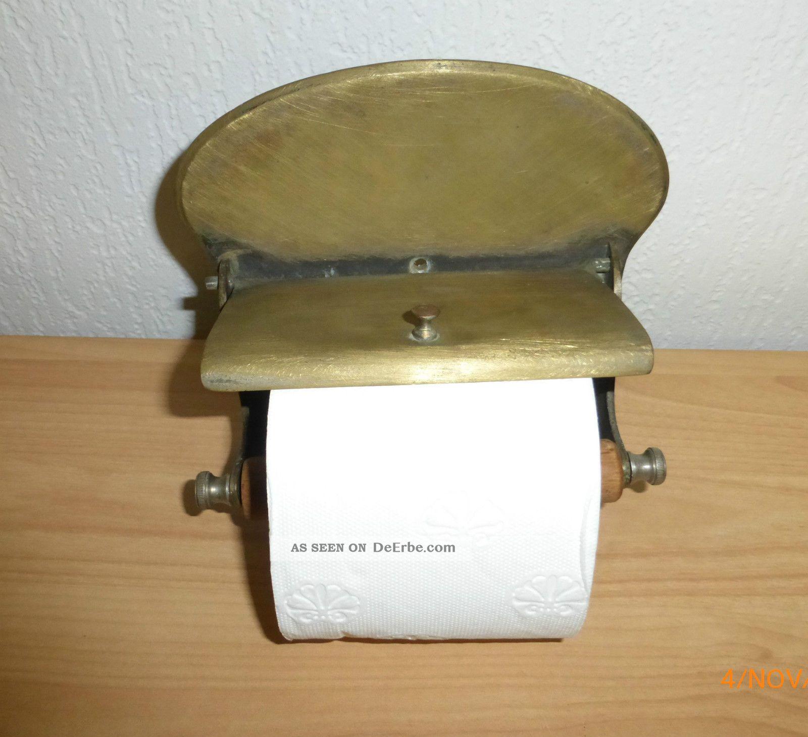 wc rollenhalter klorollenhalter art deco vintage shabby chic. Black Bedroom Furniture Sets. Home Design Ideas