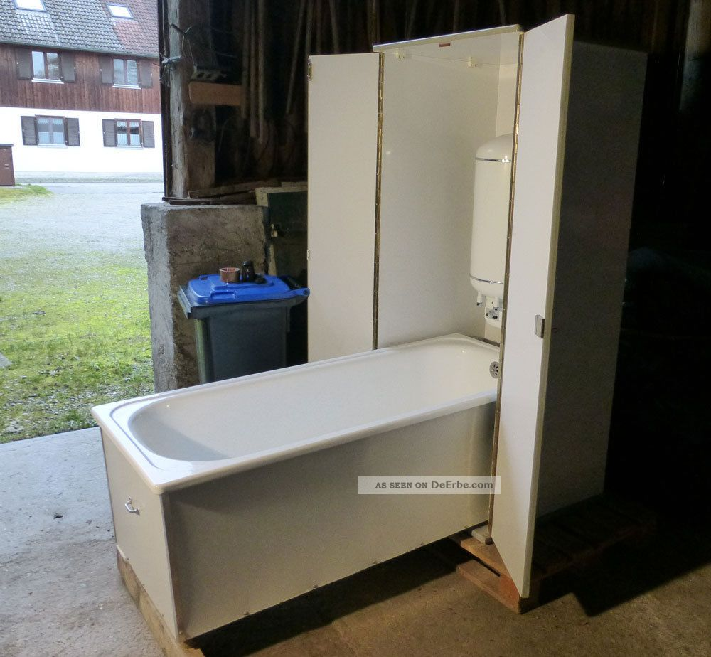 Schrankbadewanne,  Klappbadewanne 1950er Jahre Topzustand Original, vor 1960 gefertigt Bild