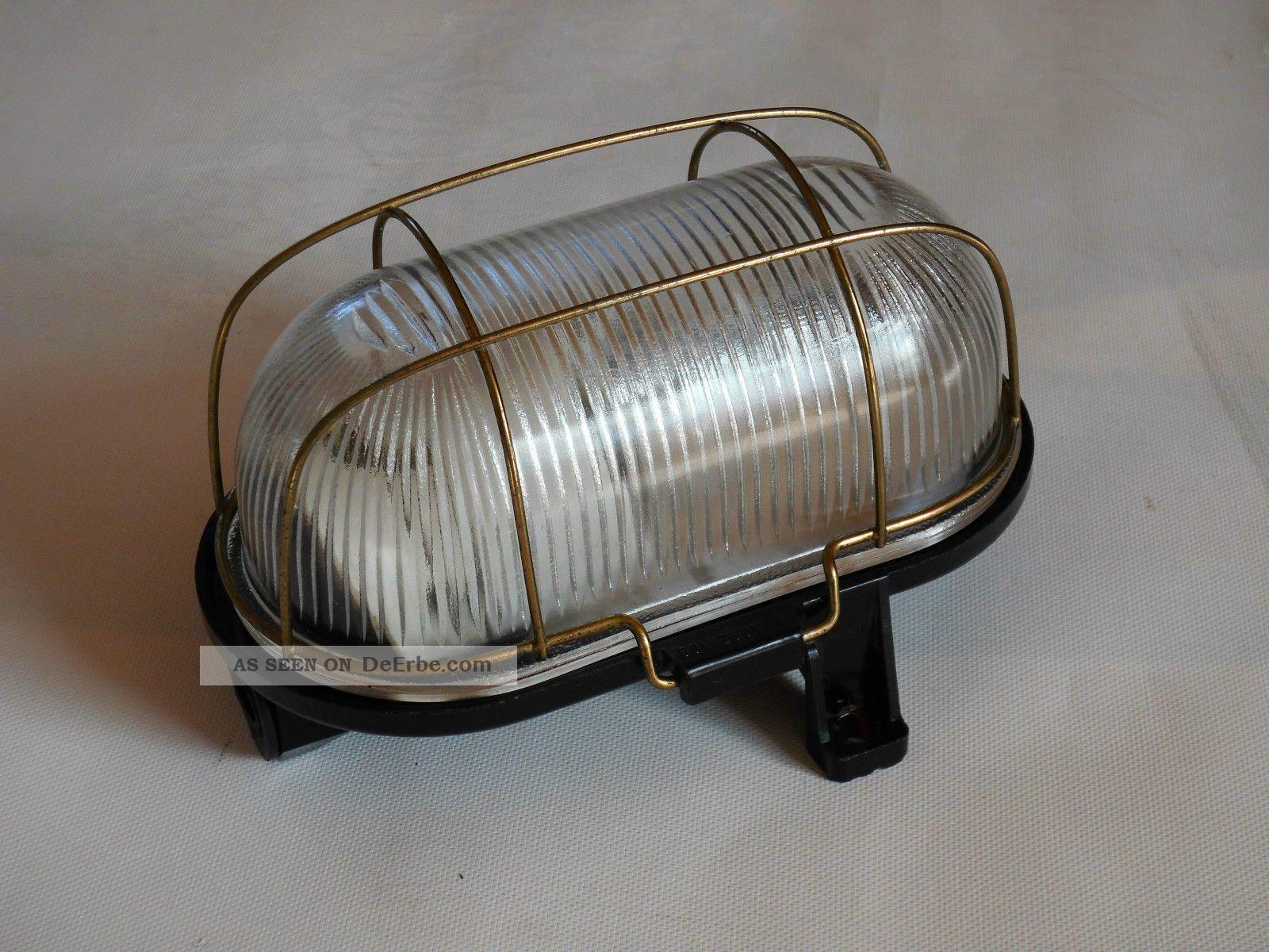 alte bunkerlampe tunnellampe kellerlampe wandlampe. Black Bedroom Furniture Sets. Home Design Ideas