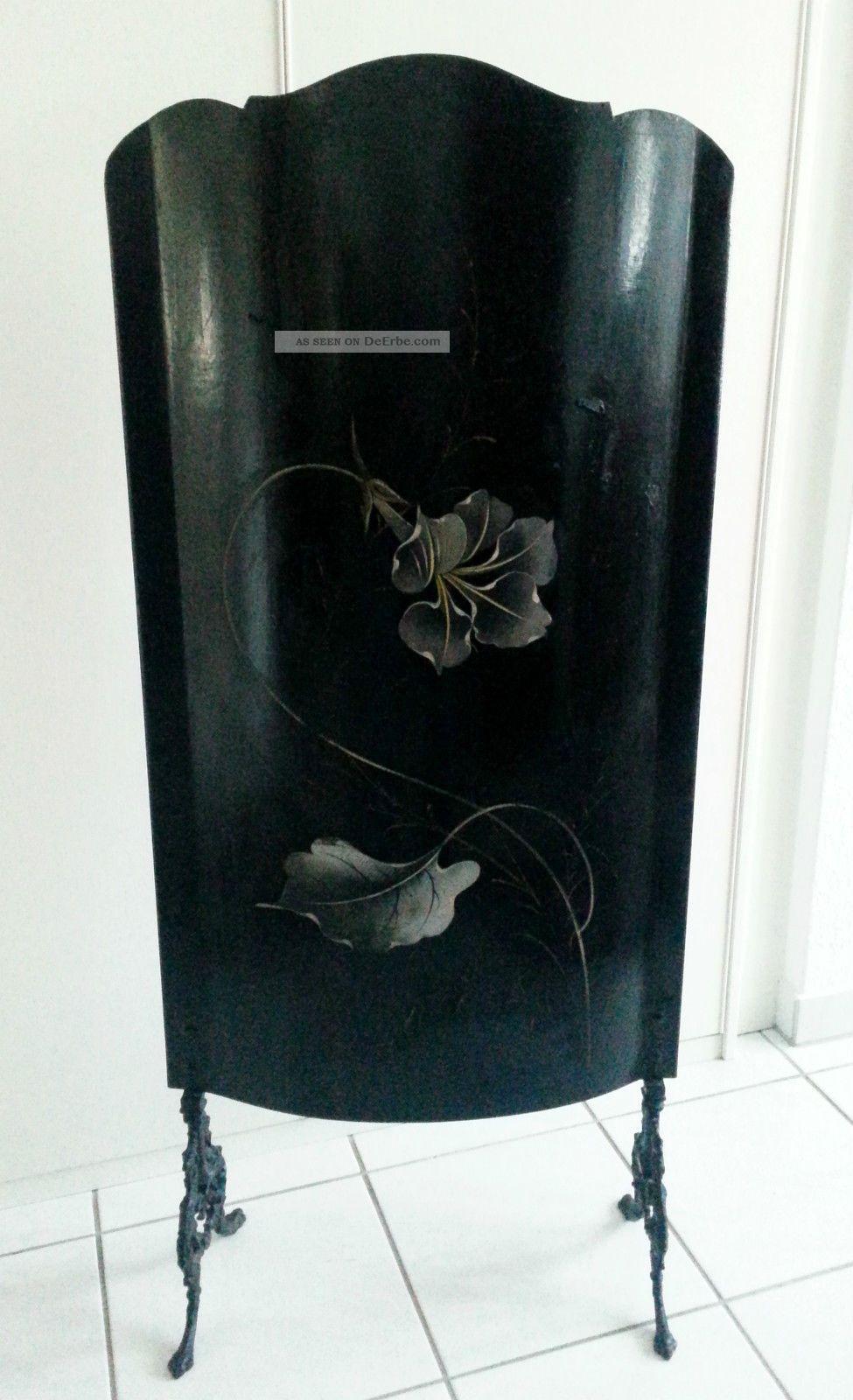 antiker ofenschirm jugendstil kaminschirm kamin funkenschutz paravent m bel. Black Bedroom Furniture Sets. Home Design Ideas