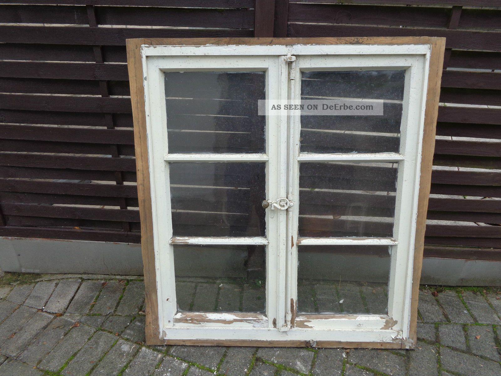 historisches sprossenfenster aus holz m rahmen vintage shabby chic unrest 4. Black Bedroom Furniture Sets. Home Design Ideas