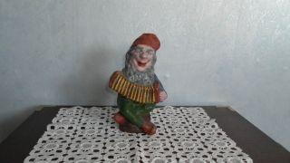 Dachbodenfund Antiker Gartenzwerg Zwerg Gnom Kasper Vollmetall Guss 3 Kg Bild