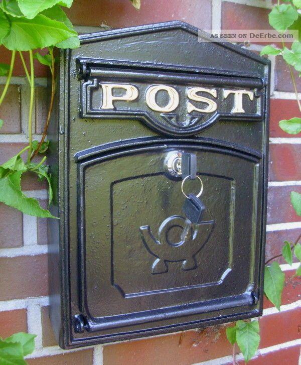 wand briefkasten postkasten post antik stil aluguss alu wandbriefkasten. Black Bedroom Furniture Sets. Home Design Ideas