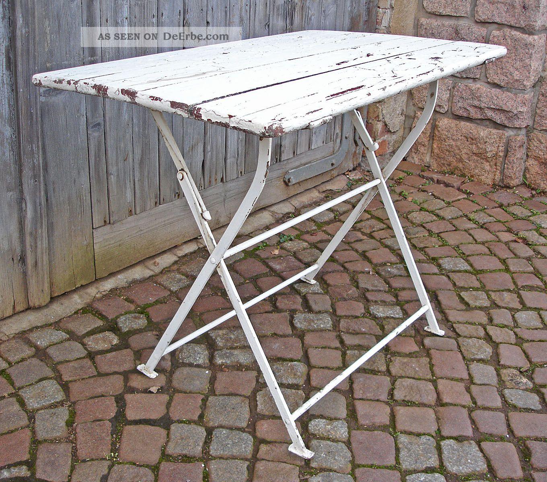 Alter Biergartentisch Gartentisch Balkontisch Klapptisch Tisch