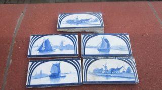 Bordüre,  Fliese,  Antik Aus Holland,  Sehr Alt. Bild