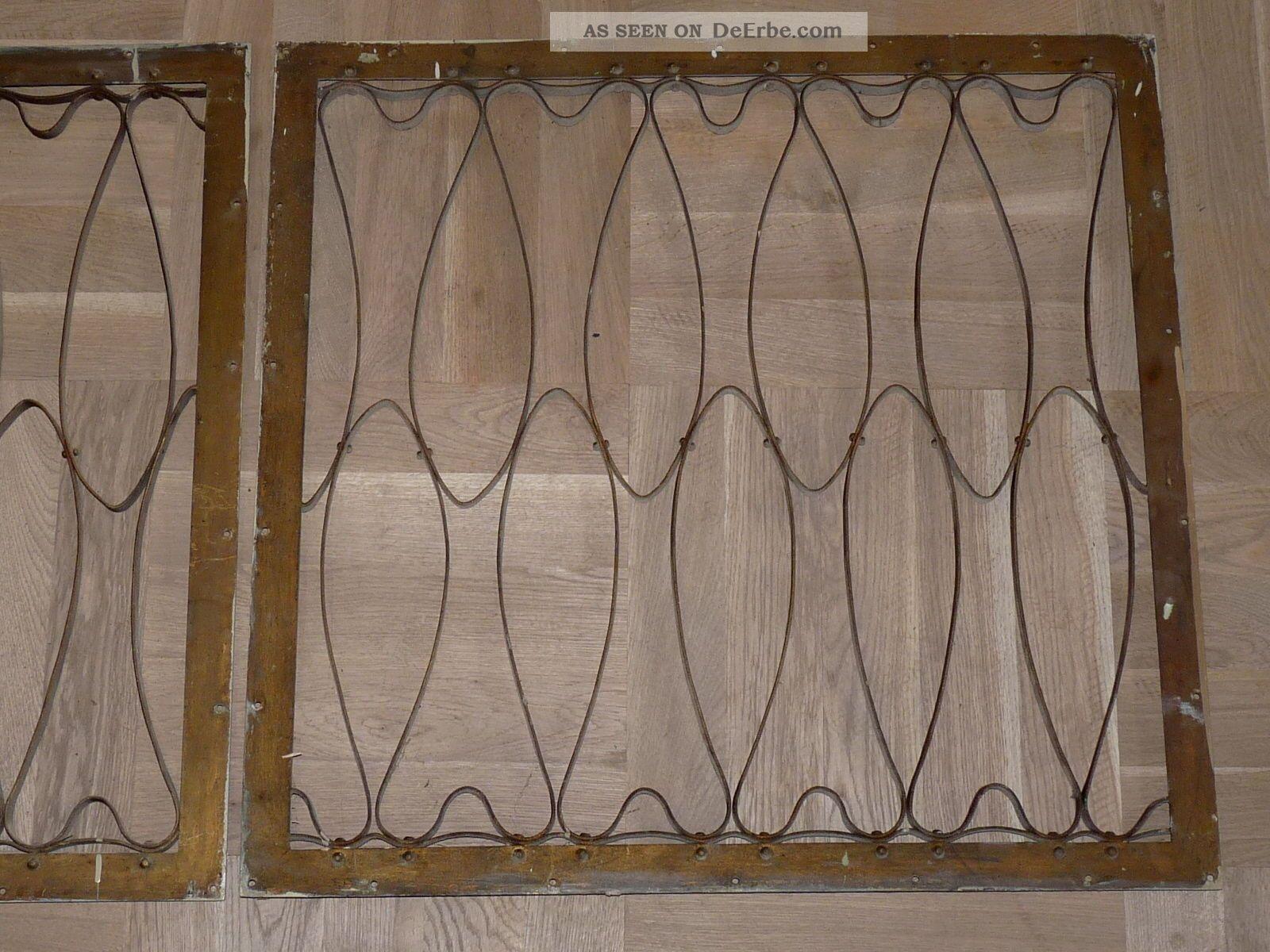 2 jugendstil art deco originale fenstergitter. Black Bedroom Furniture Sets. Home Design Ideas