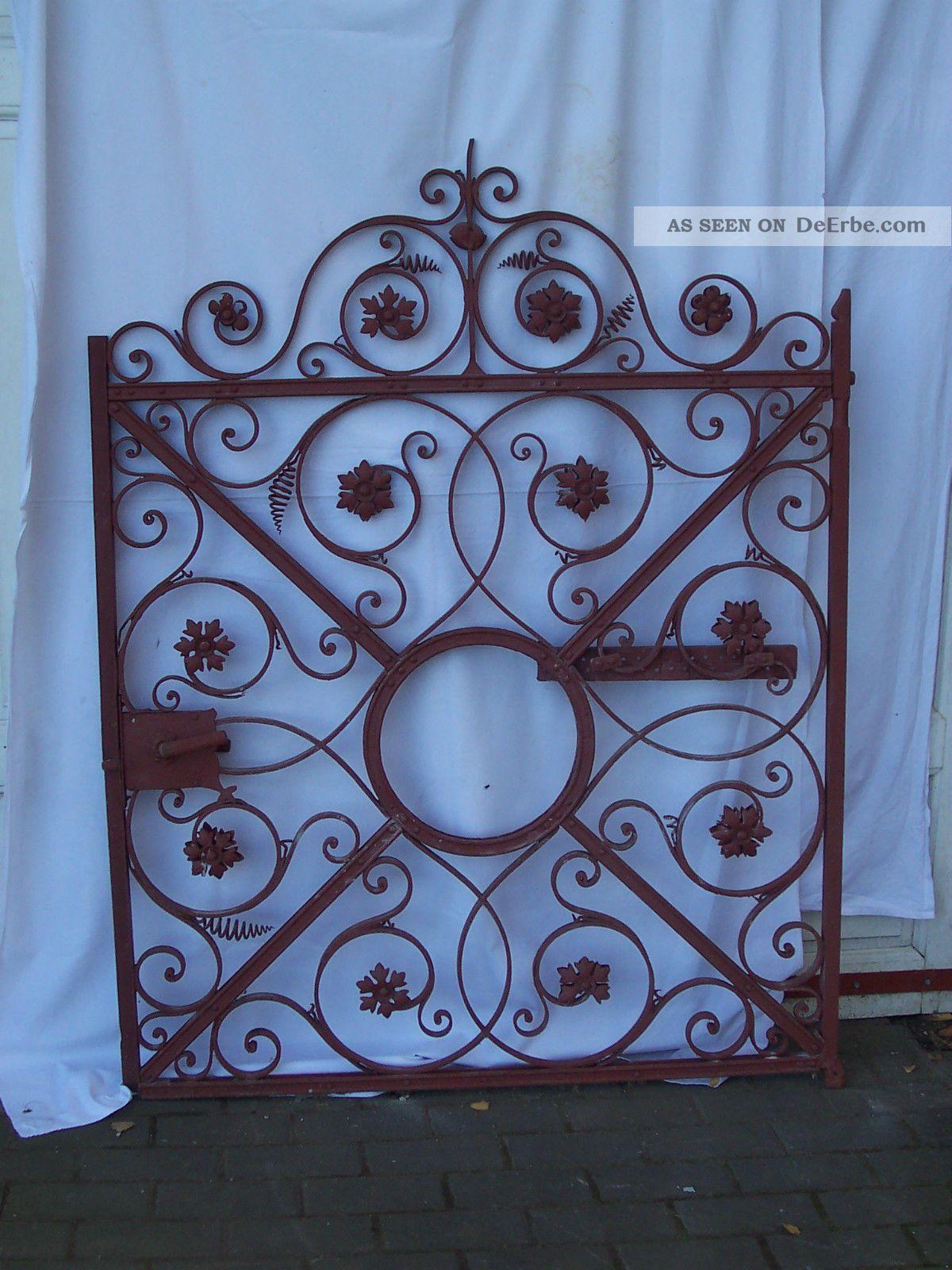 antikes gartentor eisen vor 1900 sehr dekorativ. Black Bedroom Furniture Sets. Home Design Ideas