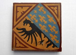 Alte Fliese Mit Wappen,  Unlasiert - Ca.  17 X 17 Cm Bild