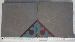 Villeroy & Boch,  Mettlach 2 Antike Bodenfliesen In,  17 X17 X1,  6 Cm Bild