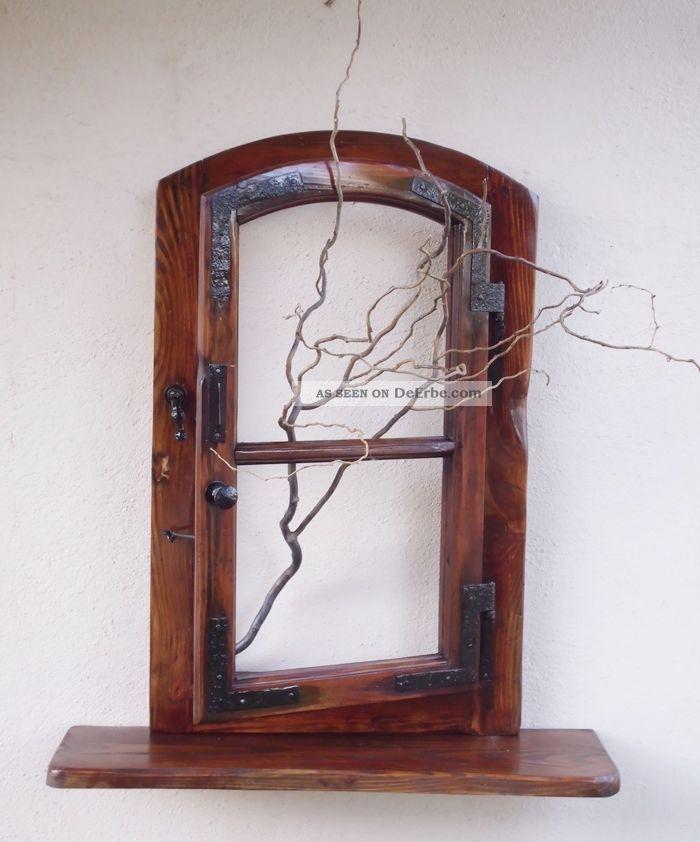 altes fenster holzfenster mit ablage fensterbank antik shabby tolle wanddeko. Black Bedroom Furniture Sets. Home Design Ideas