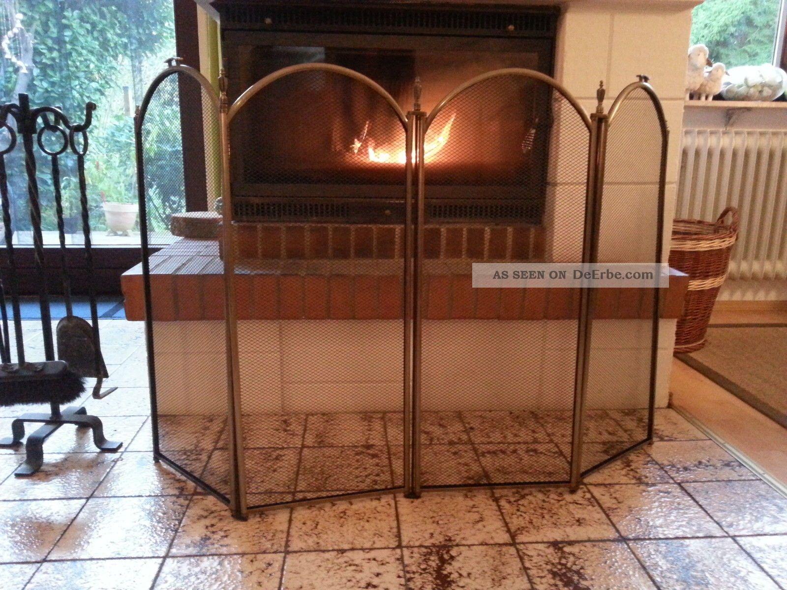 kamin funkenschutz kamingitter schutzgitter mit kleinen gebrauchsspuren. Black Bedroom Furniture Sets. Home Design Ideas