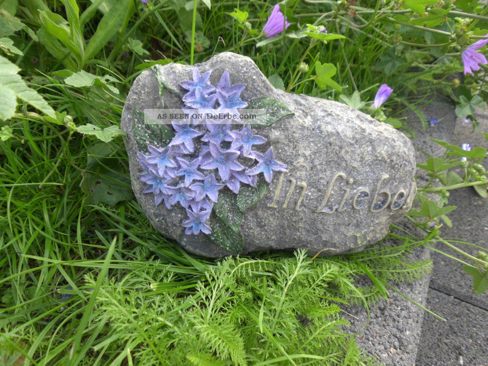 2x deko stein garten spruchstein grabbschmuck for Silberhochzeit deko garten