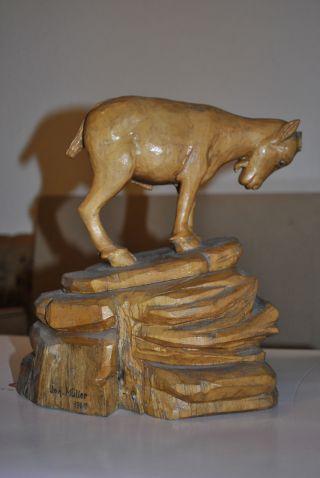 Ziege,  Ziegenbock Aus Sammlung,  Geschnitzt,  Holz Bild