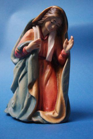 Anri Ulrich Bernardi Maria Coloriert Krippenfigur 14 Cm Holz Handgeschnitzt Bild