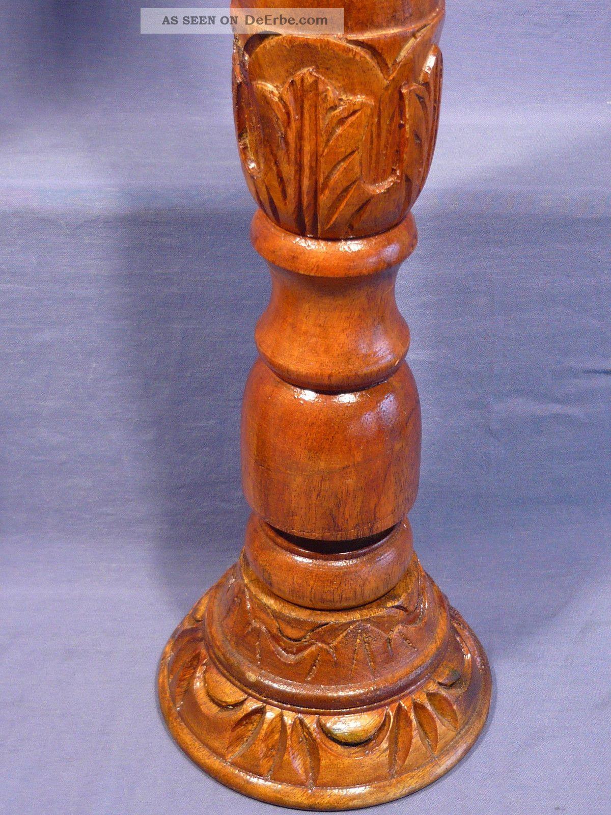 Kerzenständer Holz Geschnitzt ~ Alte Große Holz Kerzenständer Gedrechselt, Geschnitzt Holzarbeiten