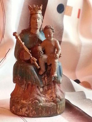 Madonna Mit Kind Traumhaft - Museal - Antik - 1700 1800jhdt?? Bild
