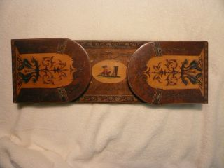 Ausziehbare - Alte Buchstütze Holz Von 1914