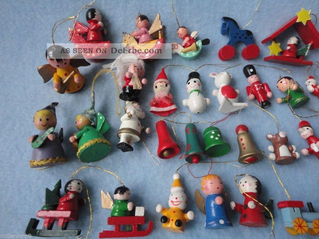 35 alte holzfiguren christbaumschmuck weihnachten figuren. Black Bedroom Furniture Sets. Home Design Ideas