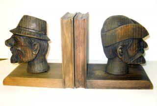 Holzschnitzerei Jagd JÄger BuchstÜtzen Schnitzarbeit Bookend Wood Bild