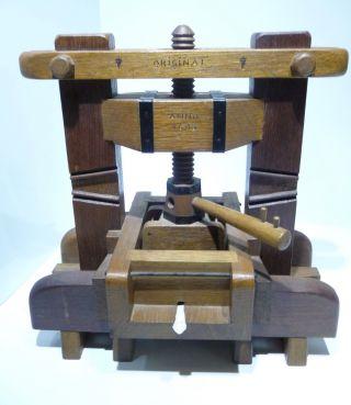 Alte Holz Weinpresse Anno 1693 Modell Minatur Mit Funktion Tolle Deko Top Bild