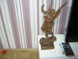 Holzfigur Corazza Meran Holzschnitzerei Heillige Figur 59 Cm Hoch Bild