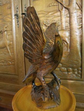 Sehr Alte Holzfigur Adler Geschnitzt Holz Geschnitzte Figur Bild