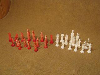 Rarität Sehr Altes & Seltenes Schachspiel Aus China Aus Bein Bild