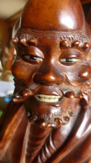 Buddha Handschnitzerei Wanderer Feine Detaillierte Arbeit Edelst 39cm Hoch Bild