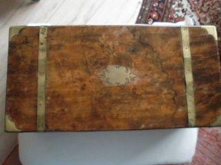 Antiker Reisesekretär Reiseschreibtisch Schreibtruhe Biedermeier Nachlass◄ Bild
