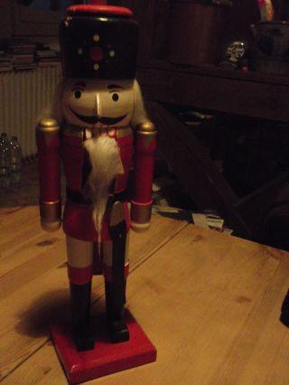 Alter Bunter Nußknacker - 35cm Groß. Bild