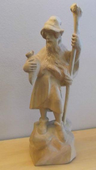 Schöner Rübezahl - Berggeist Lindenholz Geschnitzt 50 Cm Holzarbeit,  Märchen,  Figur Bild