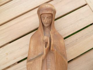Madonna Aus Holz - Antik Aus Stralsund Von 1930 - Büste / Handarbeit Bild