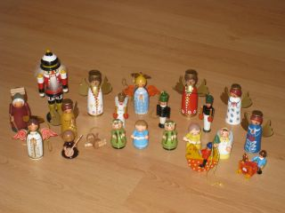 Schöne Figuren Aus Holz Baumschmuck Engel Handbemahlt Bild
