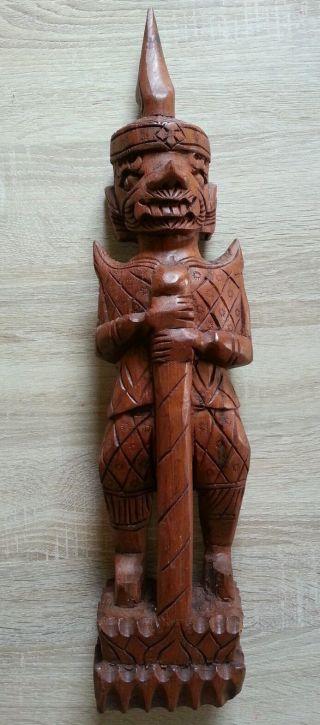 Schöne Handgeschnitzte Holzfigur / Holzstatue / Holzskulptur Bild