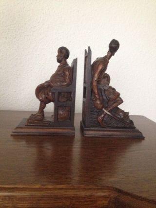 Grosse Figuren BuchstÜtze Holz Handgeschnitzt Bild