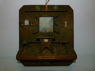 Sehr Altes Holzbild 3 D Bild