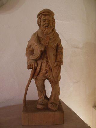 Holzschnitzfigur 45 Jahre Alt Bild