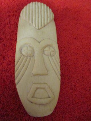 Wunderschöne Beinarbeit: Grosse Gesichtsmaske,  Gefertigt Aus Dicker Beinscheibe Bild