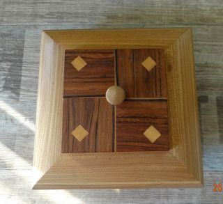 Unikat Schmuckdose,  Holzdose,  Deckel,  Massivholz,  Einzelstück Bild