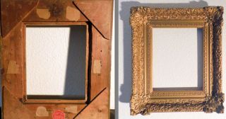 1930 Holland Bilderrahmen Gold Rahmen Aus Holz Florale Muster Bild