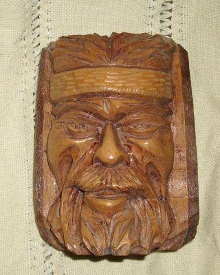 Holzskulptur : Kopf Eines Gaucho Von C.  A.  Salvay Aus Dem Jahr 1976, Bild