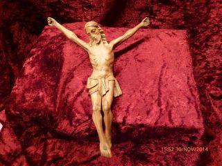 Schöner Handgeschnitzter Korpus,  Christus,  Holz,  Ausdrucksstark Bild